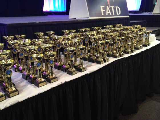 Trophies ready for National Capital DanceSport Campionships