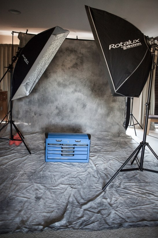 Lighting setup for the Girl - Boy - Girl shoot