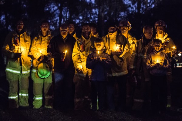 ACT firefighters showing their solidarity and support