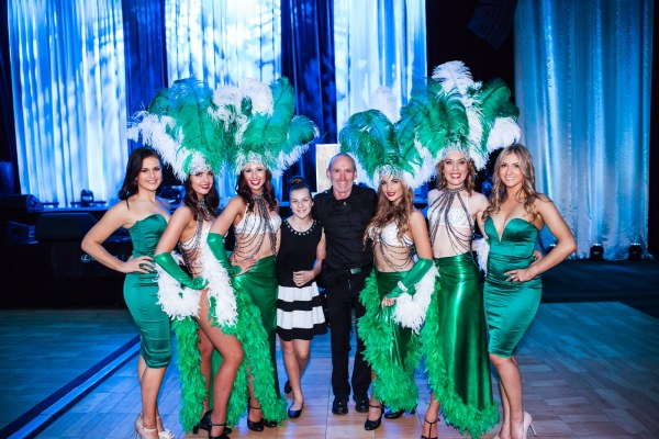 Me catching up some of the ladies from The Emeralds