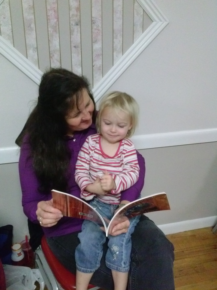 I love to read to my grandkids.