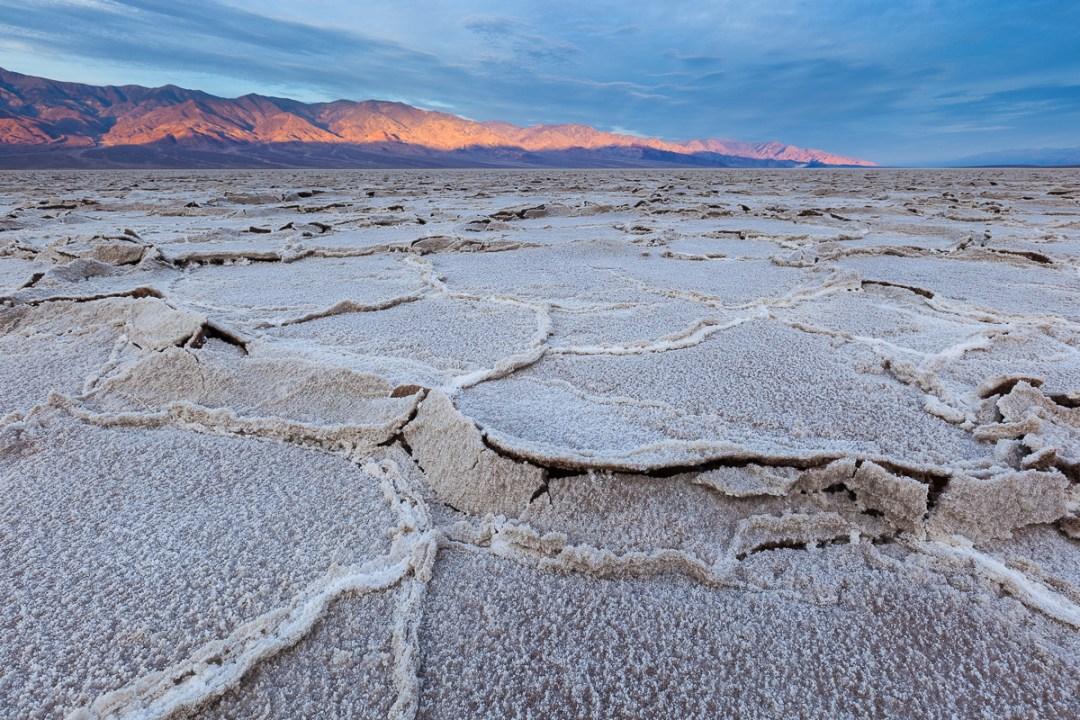 Badwater Salt Flats at dawn.