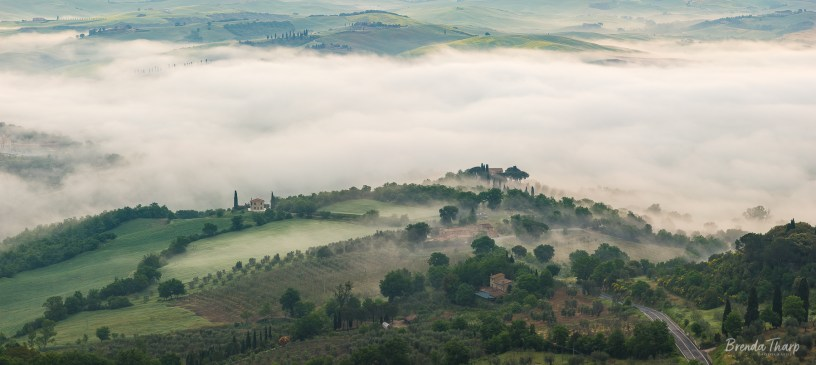 Fog in the Valley, Tuscany, Italy.