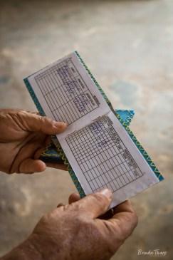 A ration book, Cuba.