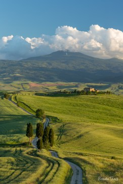 Sweeping vista in Spring, Tuscany, Italy.