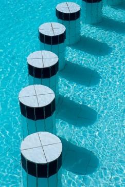 Pool seating.