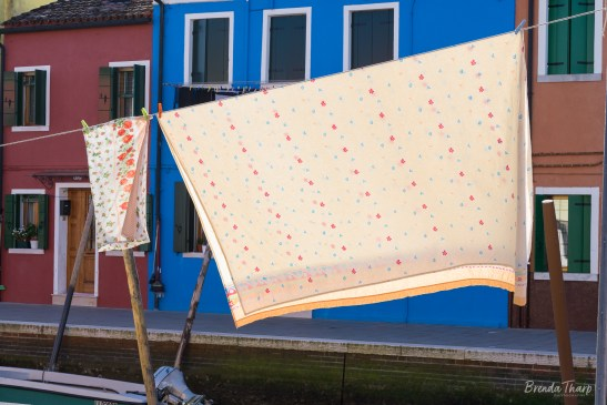 Fluttering Laundry on Burano, Italy.