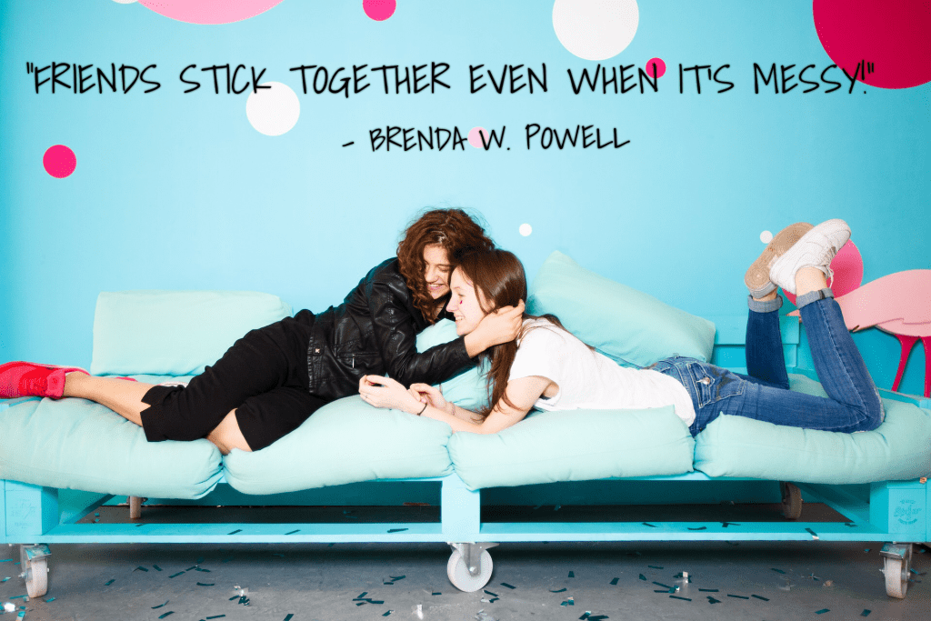 Friends, Friends forever, laughter, hugging, Brenda W. Powell, Blog