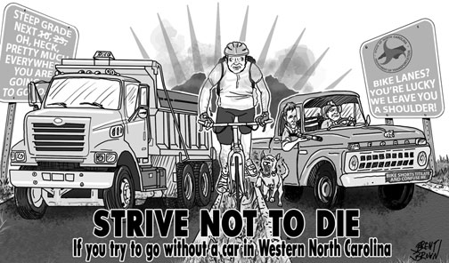 STrive Not to Die cartoon Brent Brown