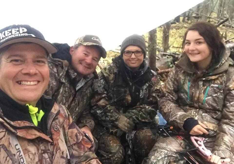 A memorable father-daughter hunting trip