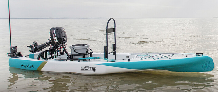 Is it a paddleboard or a fishing boat? Hybrid highlights new products catching fishermen's attention