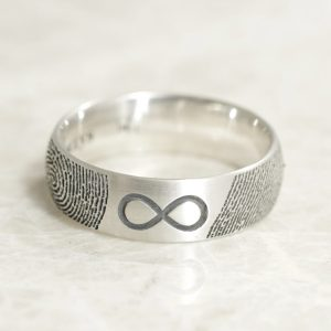 6mm infinity fingerprint ring