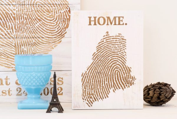 Custom State Fingerprint Wall Art