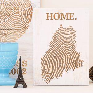 Custom State Fingerprint Wall Art