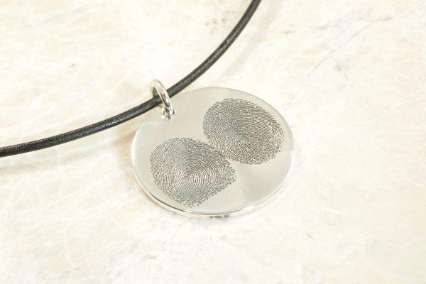 Custom 2 fingerpint necklace