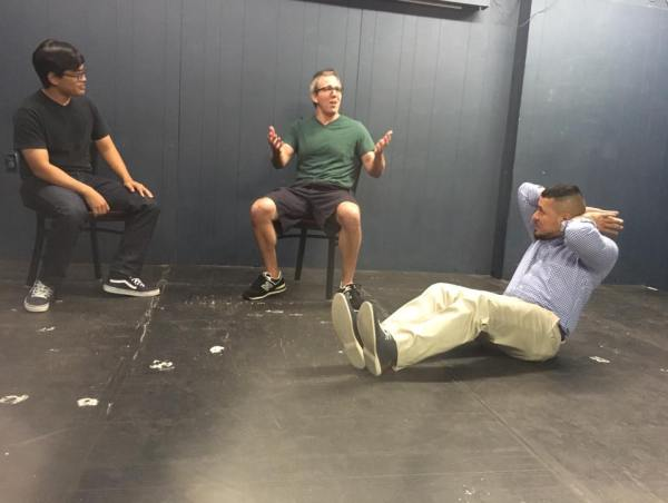 Brent Stoller at his improv class at Station Theater in Houston
