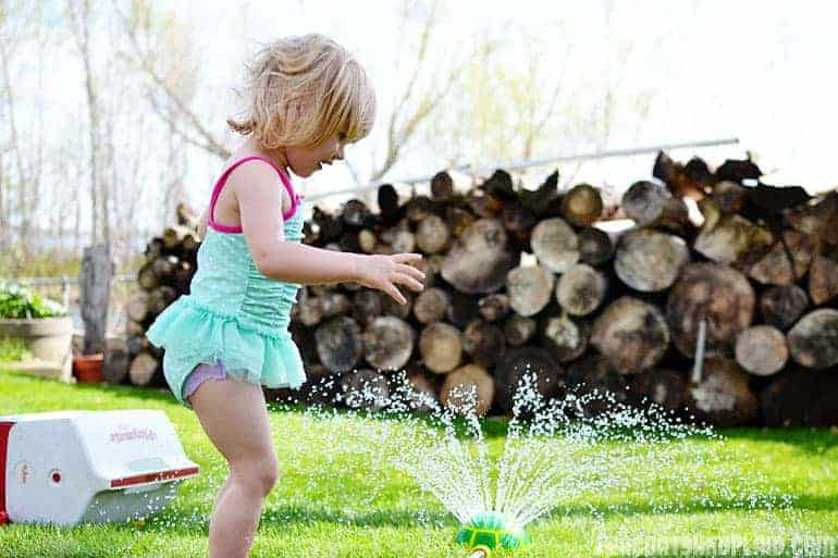 Summer time fun for toddlers.