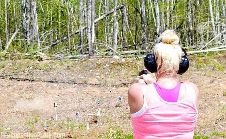 Up north target shooting.