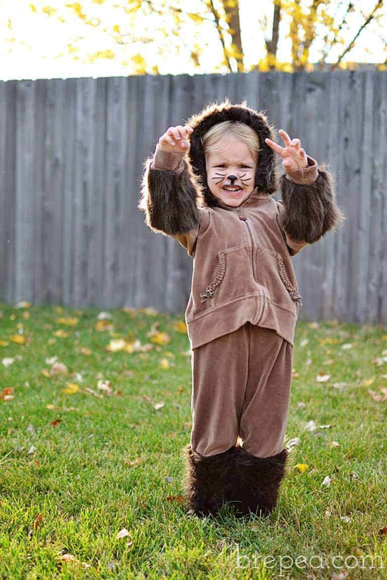 frugal DIY halloween costume for kids