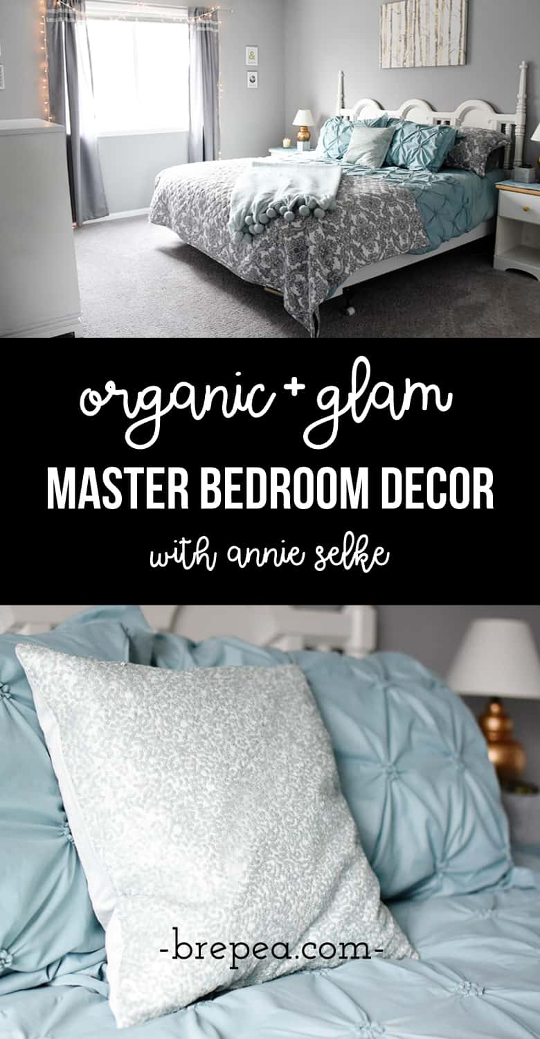 Organic and glam master bedroom decor ideas, love the mix of silver and gold!
