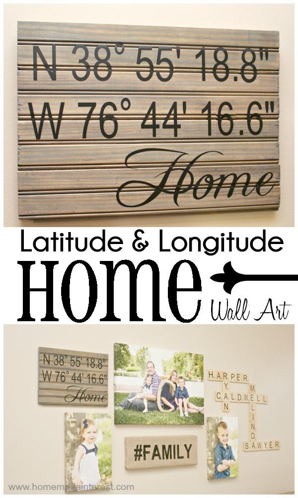 Latitude & Longitude Wall Art
