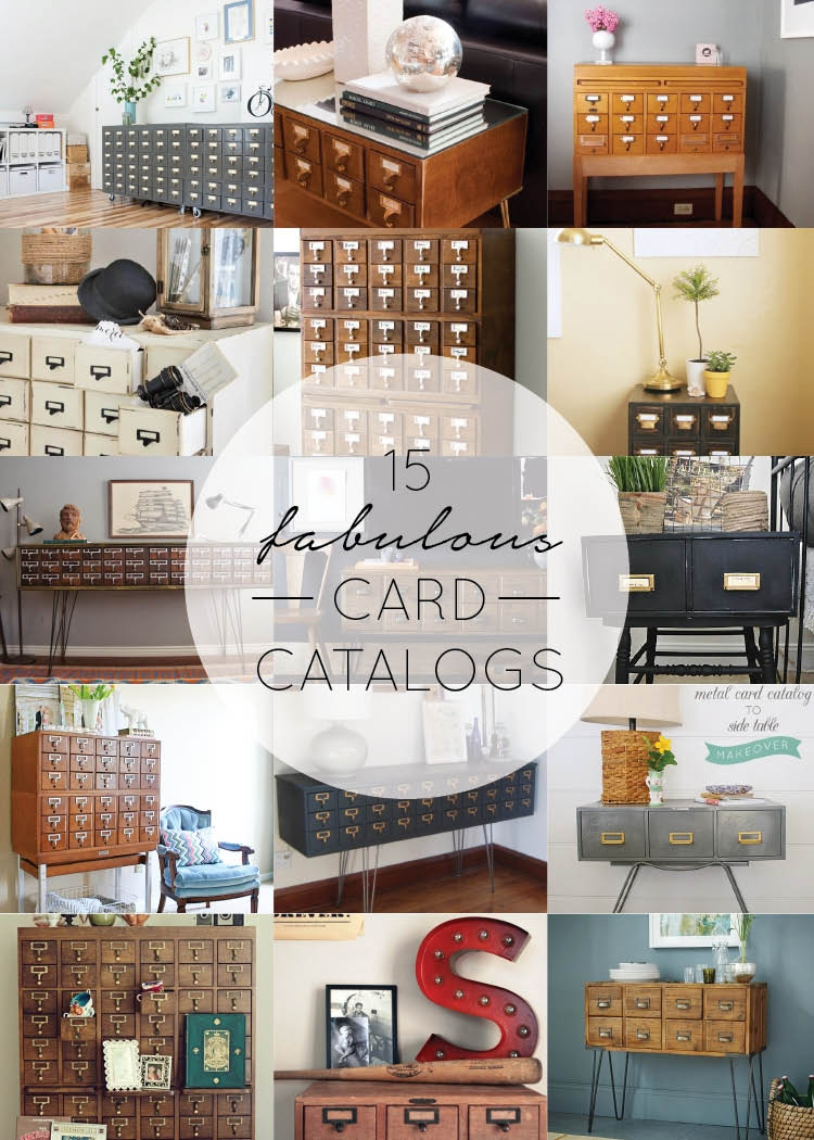 card catalog home decor brepurposed i m totally in love with card catalog home decor and it s my new mission in life to find one i ve seen some pretty killer diy d ones but there s just