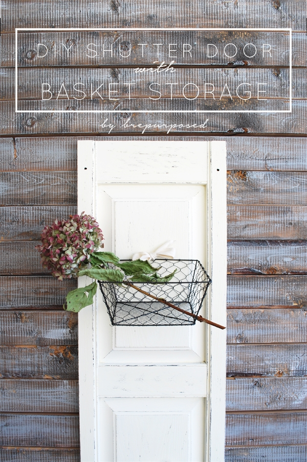 DIY Shutter Door with Basket Storage