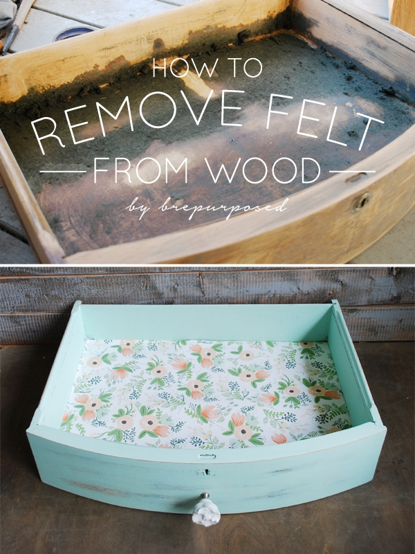 How To Remove Felt from Wood