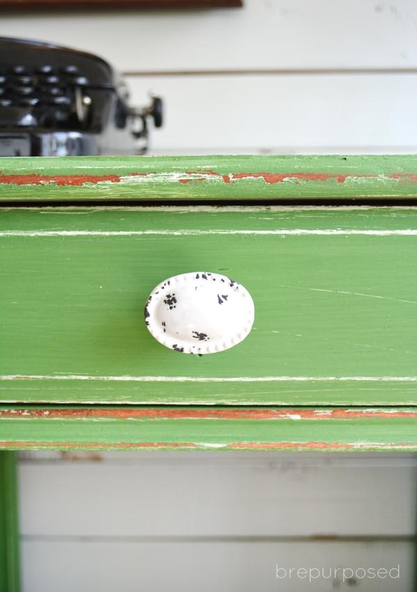 Green Vintage Desk Makeover Girl In The Garage