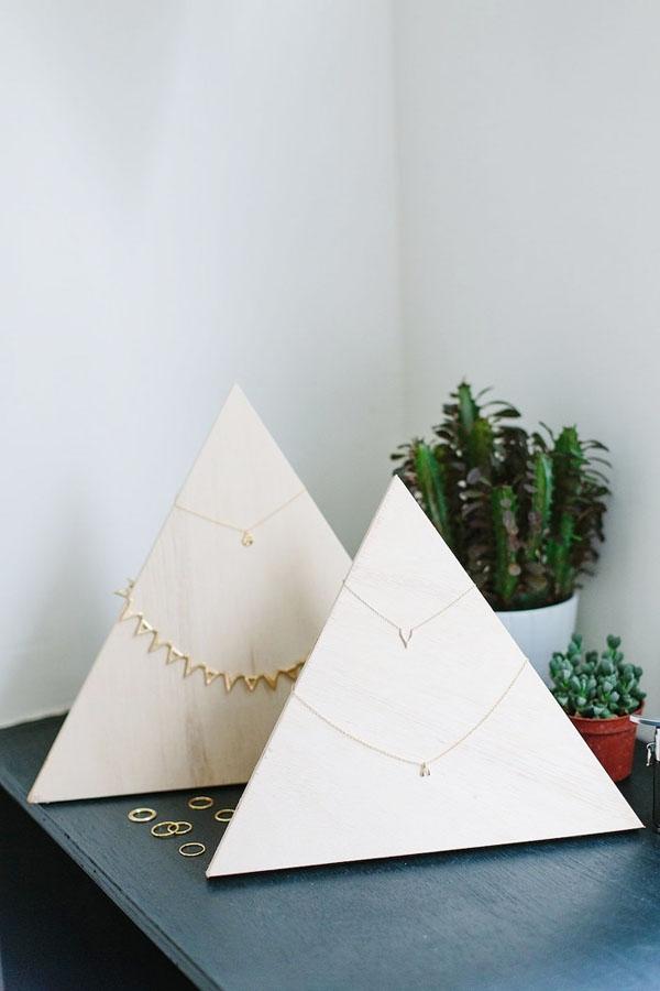 DIY Plywood Jewelry Pyramid