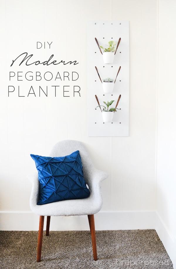 DIY Modern Pegboard Planter