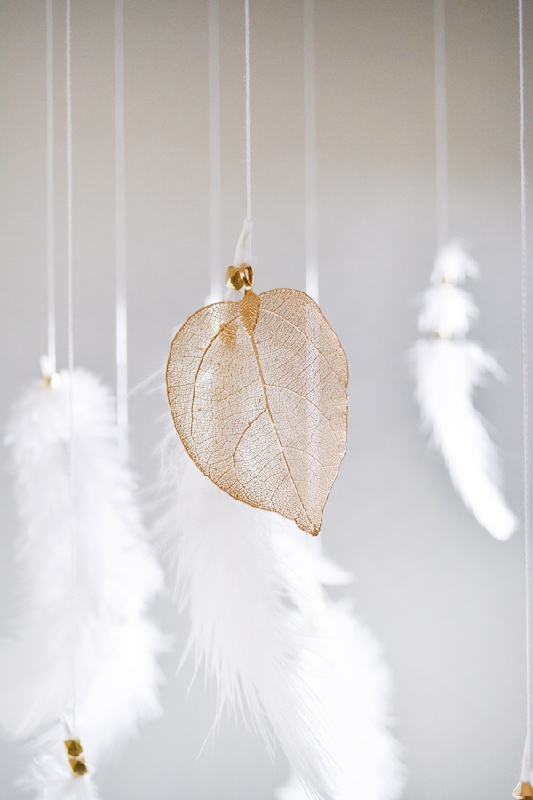 DIY Feather Mobile