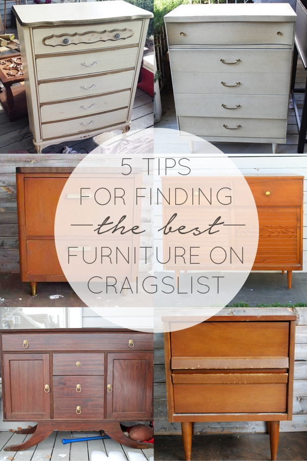 5 Tips for Finding the Best Furniture on Craigslist
