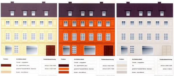 Schwerin, Wismarsche Straße 149, Darstellung Farbbefunde