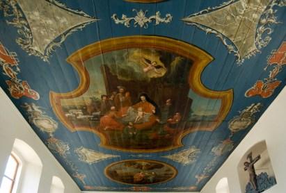 Deckenmalerei in der Dorfkirche Uelitz