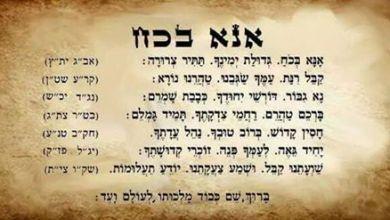 תפילת אנא בכח,אנא בכוח