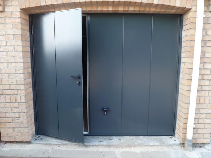 Porte De Garage Basculante Avec Portillon Novoferm