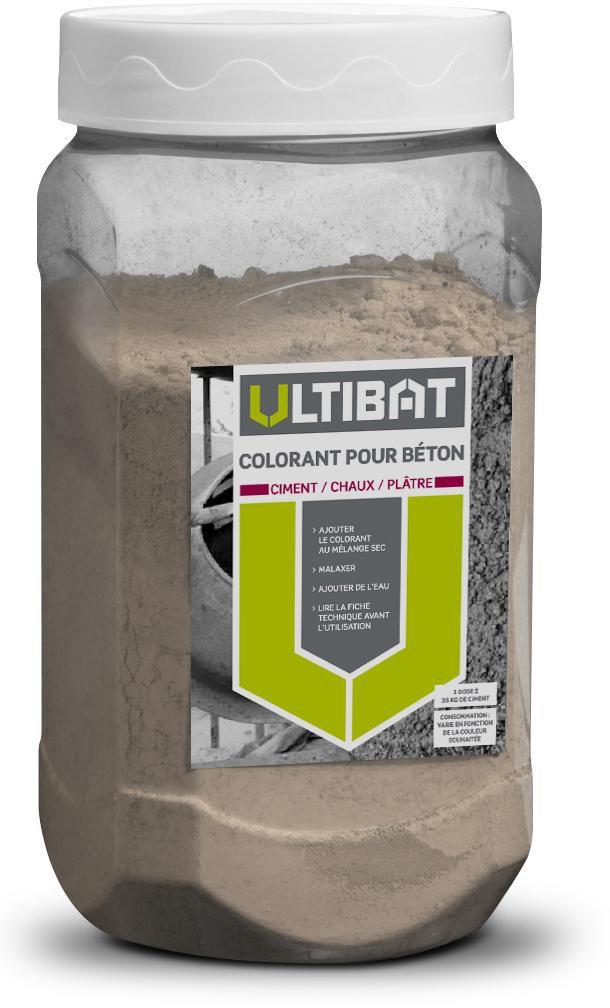Colorant Pour Beton Ciment Chaux Et Platre Ton Pierre Pot De 400 G Ultibat