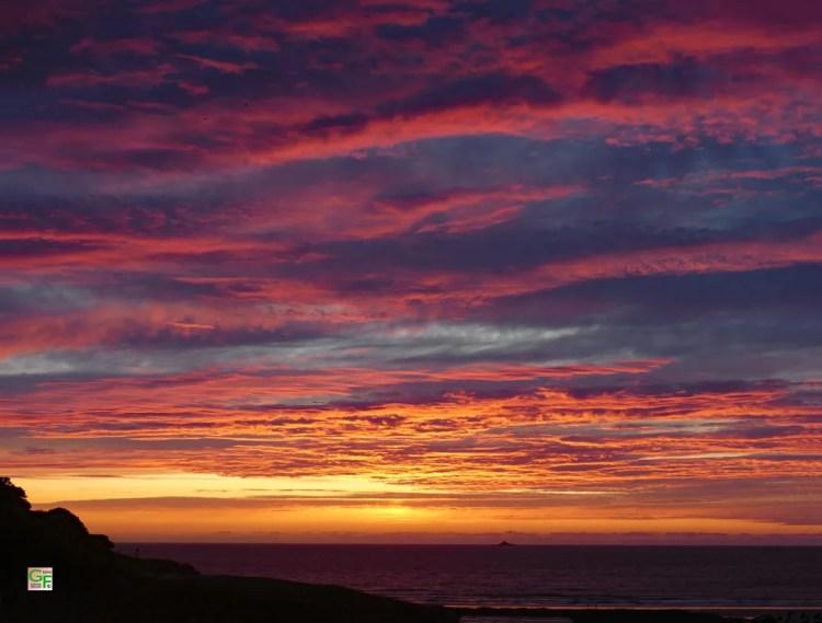 Sonnenuntergang am La Baie des Trépassés