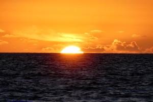 Immer weiter neigt sich die Sonne