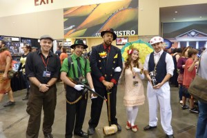 Prohibition Mario, Luigi, Peach, Toad cosplay