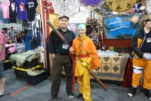 Avatar: The Last Airbender Aang cosplay.