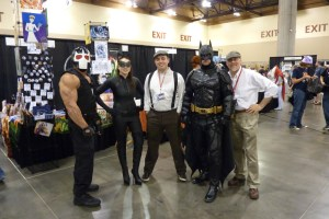 DC comics' Bane, Catwoman and Batman.