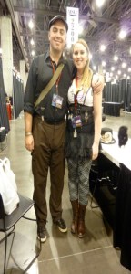 I, Tim Blevins, am lucky to be with my girlfriend, Olivia.  She's so pretty! She also helped us out a lot at the booth.