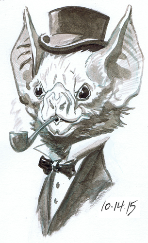 Inktober Drawlloween Bat