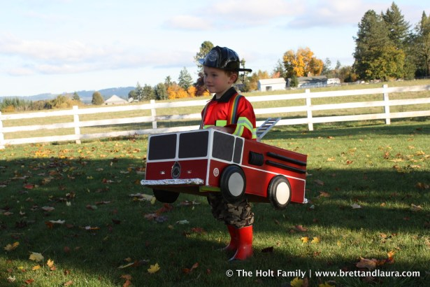 Fire Engine Halloween Costume