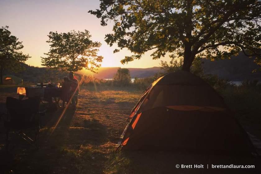 Camp site at Lake Roosevelt