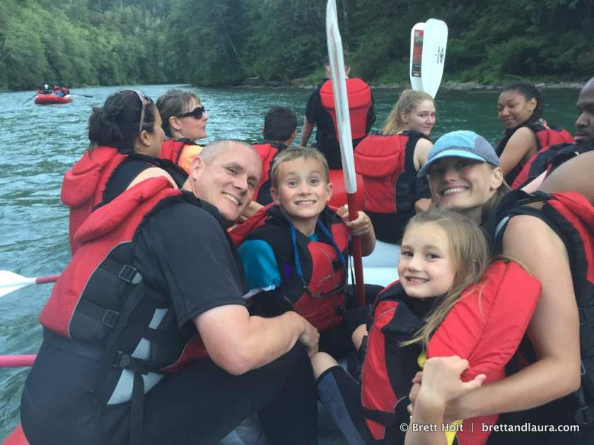First time river rafting as a family