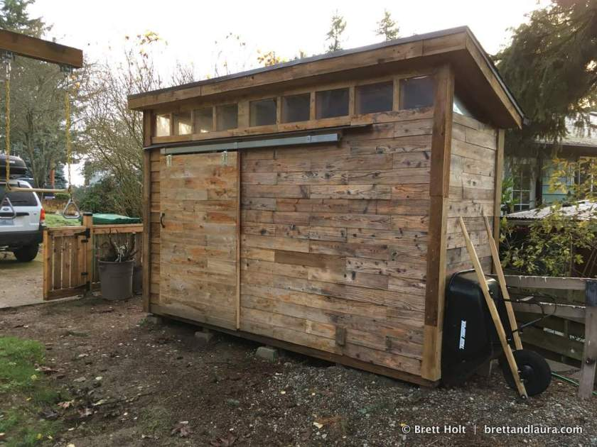 Shed is built