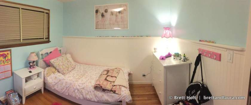 Autumn's updated room (added beadboard, shelf along beadboard, paint, and more)